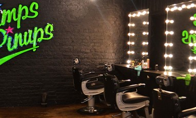 Pimps and Pinups, a rock and roll hairdresser in Shoreditch