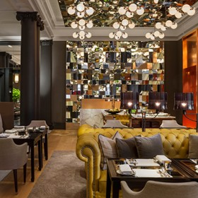 the mirror room of the London Rosewood restaurant
