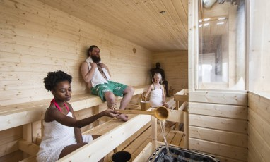 A Finnish Sauna on a Rooftop:  Winter Oasis with a View