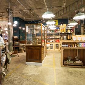 interior of a vintage shop