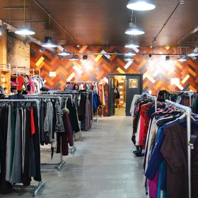interior of the traid thrift shop