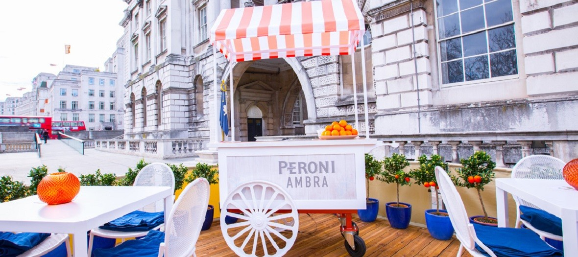 Somerset house collaborates with peroni for summer 39 s new drink for Food bar somerset mb