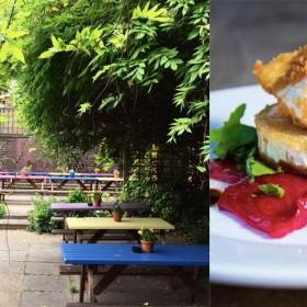 The Sun garden and food