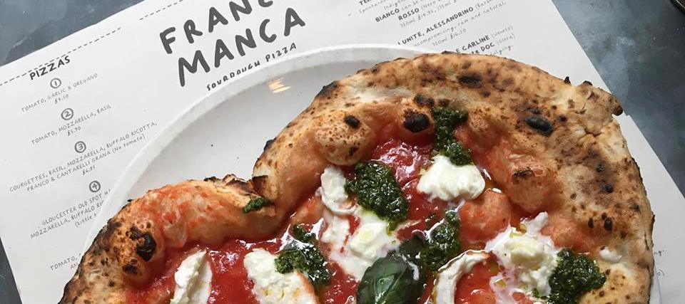 Franco Manca sourdough pizza