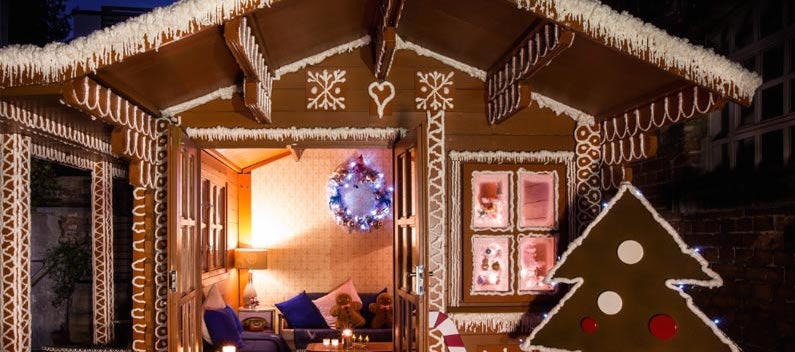 York & Albany - Pop Up Winter Gingerbread house in Camden, London